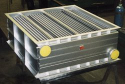 Specialist Multi-Section Aluminium finned air cooler of airtight case construction